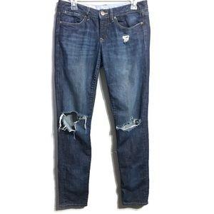 GAP Dark Wash Distressed Always Skinny Jeans 28/6